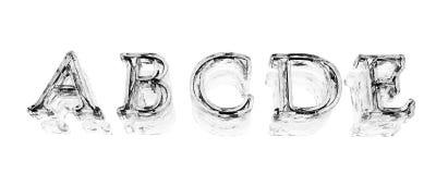 In der alphabetischen Reihenfolge Stockfoto