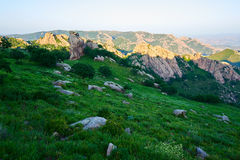 Der alpine Steppensonnenuntergang Stockbild