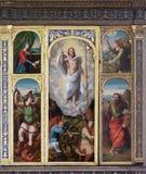 Der Altar der Auferstehung von Jesus in der Franziskanerkirche in Dubrovnik, Kroatien Lizenzfreie Stockfotos