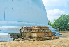 Der Altar bei Stupa Stockfoto