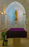 Der Altar in der Grotte Stockfoto