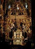 Der Altar der Kathedrale von Santiago de Compostela Stockbilder