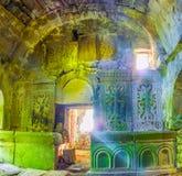Der Altar der verlassenen Kirche Stockfoto