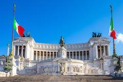 Der Altar des Vaterlandmarksteins in Rom, Italien Stockbild
