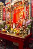 Der Altar in einem Tempel Stockbild