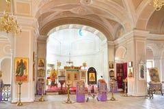 Der Altar der Kapelle der Heiligen Dreifaltigkeit in Gatchina-Palast Stockfoto