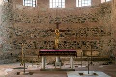 Der Altar vom Rundbau von Galerius in Saloniki - Griechenland Stockbild