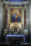 Der Altar von gesegneten Jungfrau Maria Stockbild