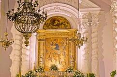 Der Altar von Kirche St. Caterine in Taormina Lizenzfreies Stockbild
