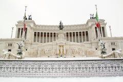 Der Altar von Mutterland abgedeckt durch Schnee Stockfotografie