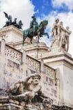 Der Altare-della Patria-Altar der Vaterlandnahaufnahme, alias des Monumento Nazionale Vittorio Emanuele II Lizenzfreie Stockbilder