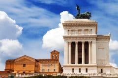Der Altare-della Patria-Altar des Vaterlands, alias des Monumento Nazionale Vittorio Emanuele II Stockfotografie