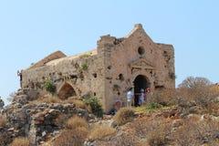 Der Altbau auf der Insel in Griechenland Lizenzfreies Stockfoto