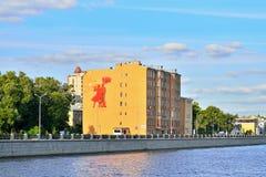 Der Altbau auf Primorsky Prospekt 6, der Damm von Lizenzfreie Stockfotos