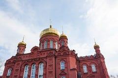 Der Altbau der Russisch-Orthodoxen Kirche Stockfotos