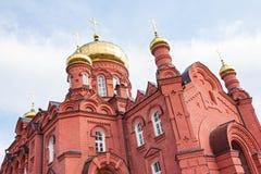 Der Altbau der Russisch-Orthodoxen Kirche Stockbild
