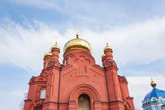 Der Altbau der Russisch-Orthodoxen Kirche Lizenzfreies Stockfoto