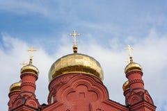 Der Altbau der Russisch-Orthodoxen Kirche Stockfotografie