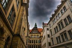 Der Altbau der Stadt Dresden, Deutschland Lizenzfreie Stockbilder