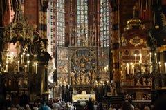 Der alte Altar des Esprits Stwosz Lizenzfreies Stockfoto