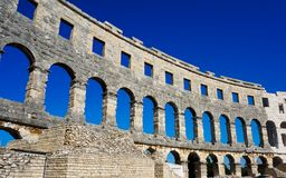 Der alte Amphitheatre in den Pula - Kroatien Lizenzfreie Stockfotografie