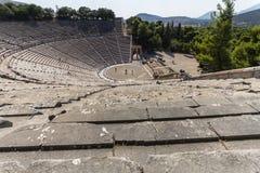 Der alte Amphitheatre von Epidaurus in Griechenland Lizenzfreies Stockfoto
