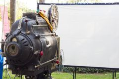 Der alte analoge Drehfilmfilmprojektor Stockbild