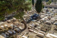 Der alte armenische Kirchhof in Jerusalem, Israel Lizenzfreie Stockbilder