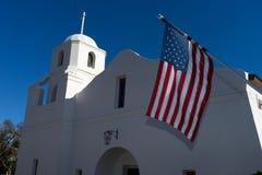 Der alte Auftrag des luftgetrockneten Ziegelsteines in Scottsdale Arizona USA Stockbilder