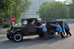 Der alte AutolKW Stockbild