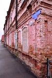 Der alte Backsteinbau der alten Architektur stockfotografie