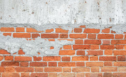 Der alte Backsteinmauerhintergrund Stockfotos