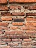 Der alte Backsteinmauerhintergrund lizenzfreie stockbilder