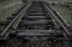 Der alte Bahnbereich Stockfoto