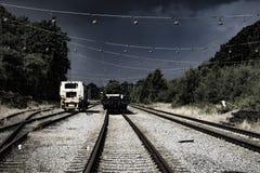 Der alte Bahnbereich Lizenzfreie Stockfotos