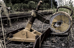 Der alte Bahnbereich Lizenzfreies Stockbild