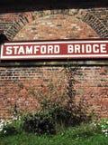 Der alte Bahnhof an Stamford-Brücke, Yorkshire lizenzfreie stockfotografie