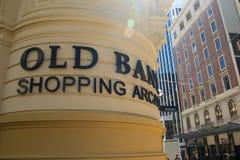 Der alte Bankeinkaufssäulengang Wellington Lizenzfreie Stockfotos