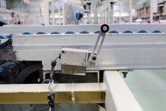 Der alte Begrenzungsschalter in den Druckluftanlagen Energie und Hydraulik Lizenzfreies Stockfoto