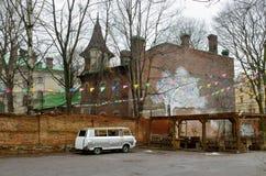 Der alte Bereich der Stadt Lizenzfreies Stockbild
