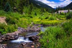 Der alte Bergbau-Fluss Stockbild