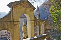 Der alte Bezirk von Serravalle, einer des alten Dorf zwei formi Stockfoto