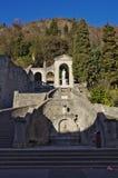 Der alte Bezirk von Serravalle, einer des alten Dorf zwei formi Lizenzfreie Stockfotos