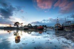 Der alte Boatyard Stockfotografie