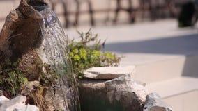 Der alte Brunnen Architektur von Kroatien stock video footage