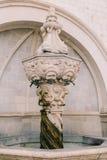 Der alte Brunnen Architektur von Kroatien und von Montenegro, Balkan Stockfotos