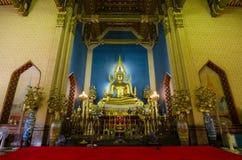 Der alte Buddha im berühmten Tempel Stockbild