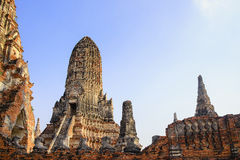 Der alte buddhistische Tempel bei Ayuthya Stockfoto