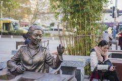 Der alte Doktor der traditionellen Statue der chinesischen Medizin Stockfotografie