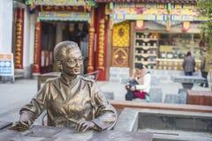 Der alte Doktor der traditionellen Statue der chinesischen Medizin Stockfoto